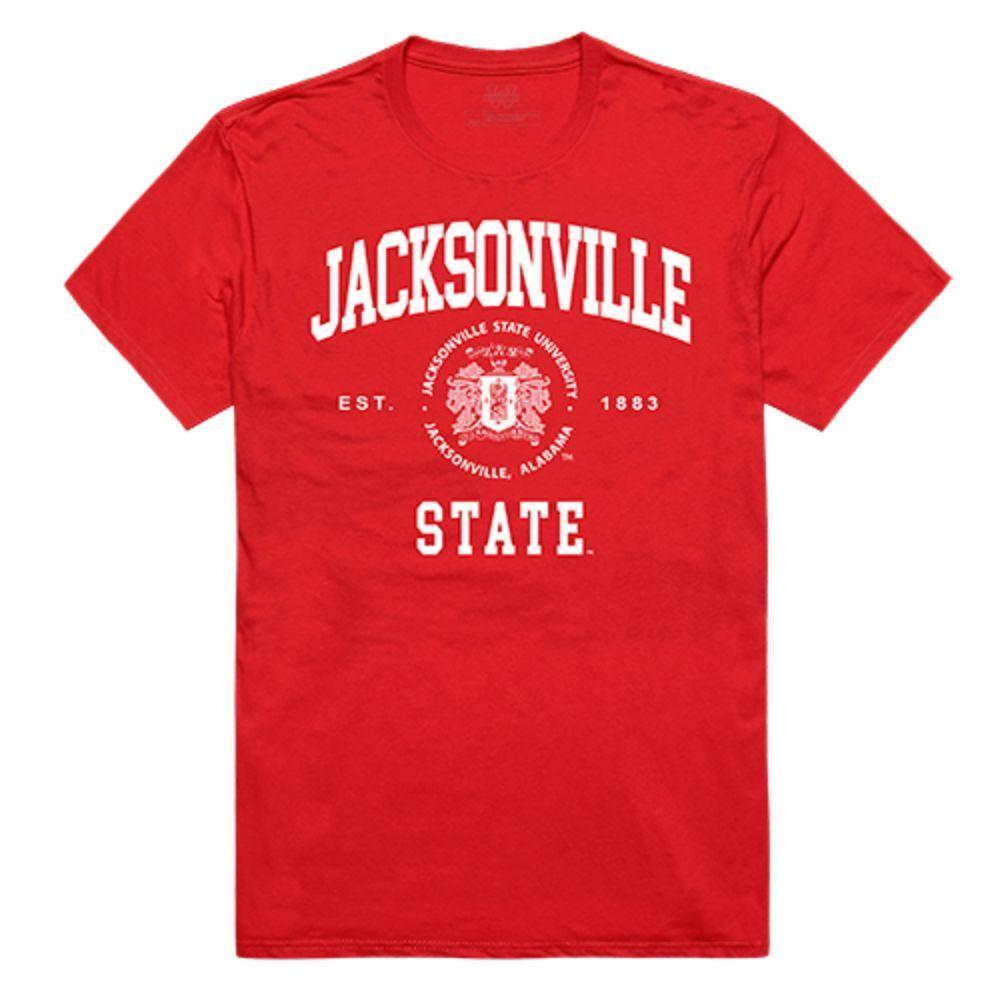 Jacksonville State University Gamecocks NCAA Seal Tee T-Shirt Red