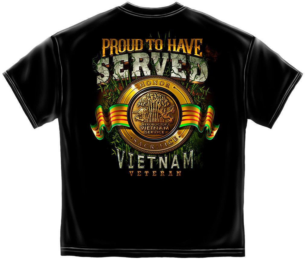Erazor Bits T-Shirt Military Soldiers Vietnam Veteran Proud To Have Served