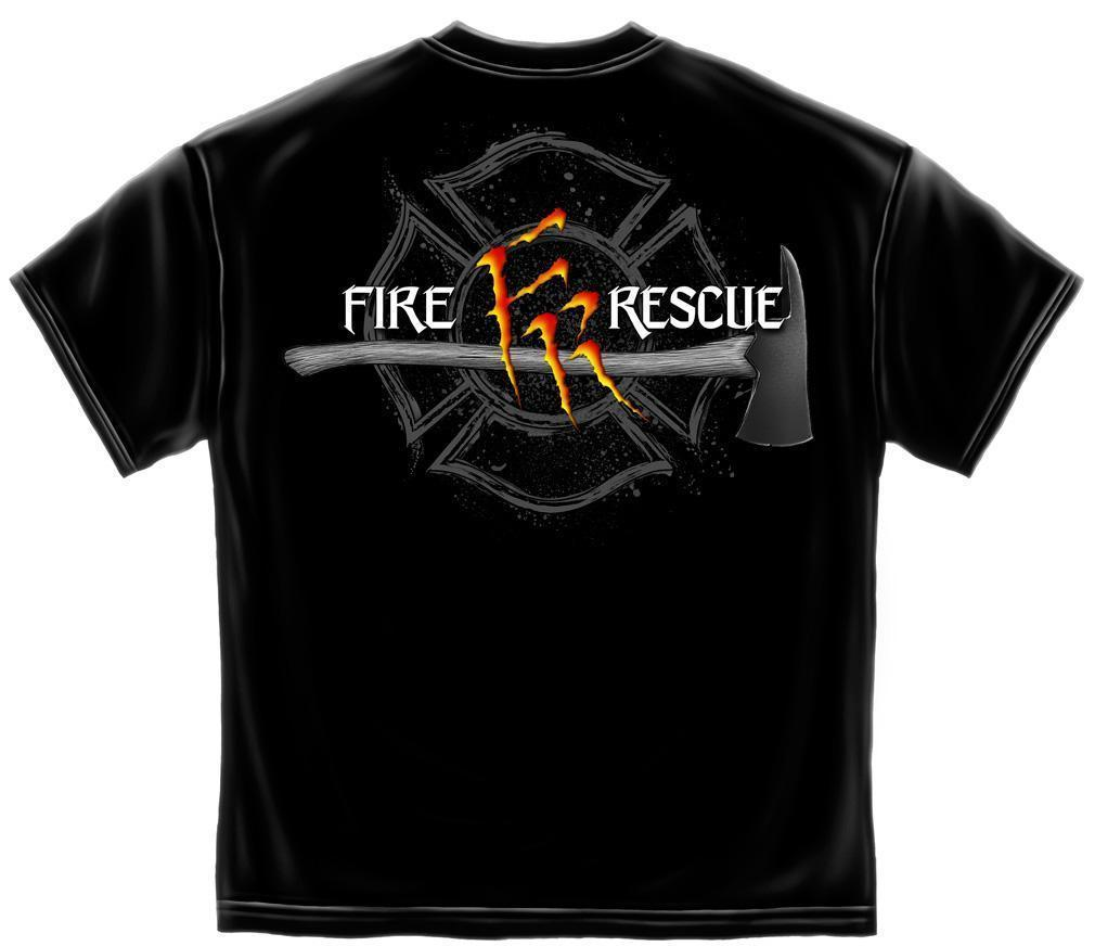 Erazor Bits T-Shirt - Fire Fighter - Fire Rescue- Monster Claw -  Black