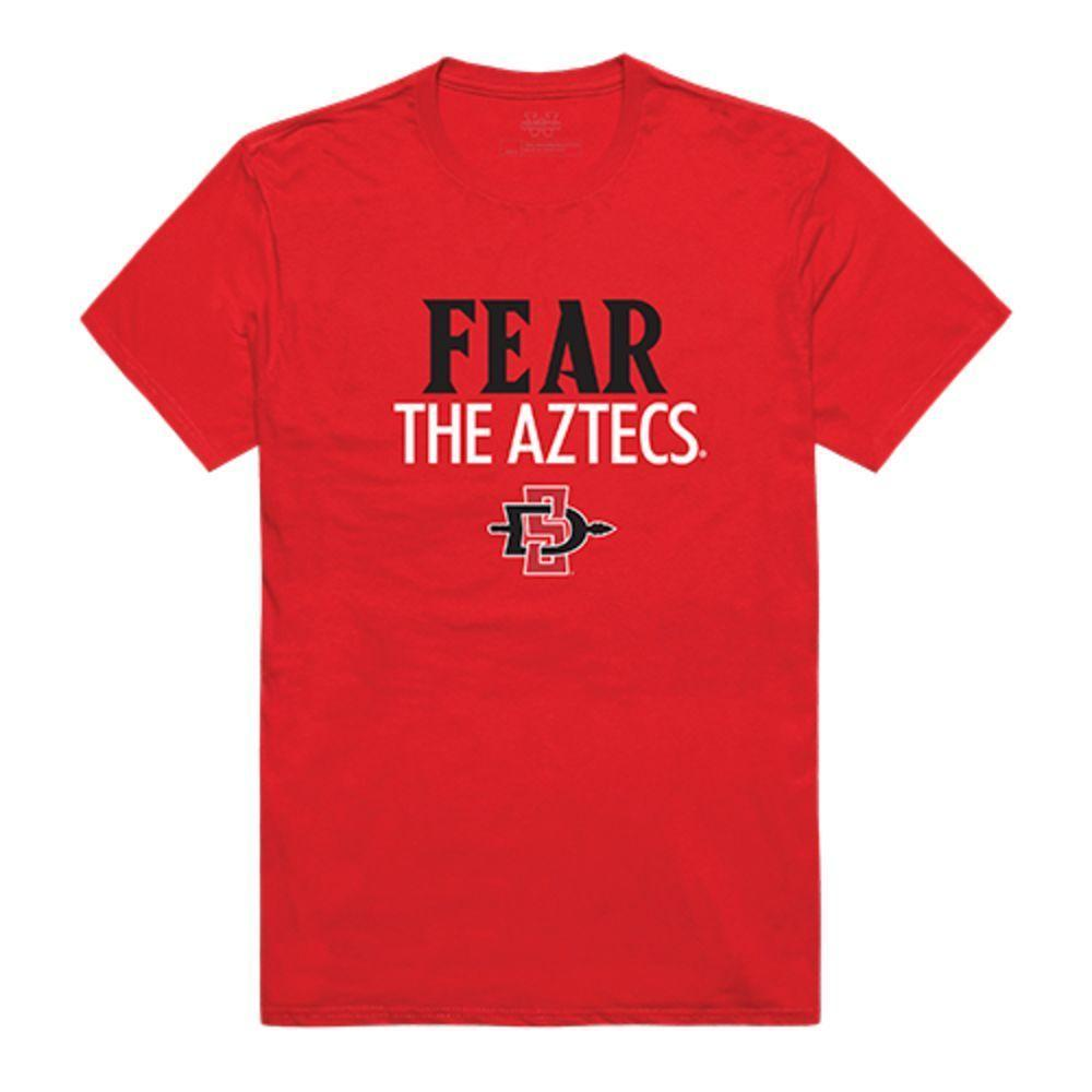 SDSU San Diego State University Aztecs NCAA Fear Tee T-Shirt Red
