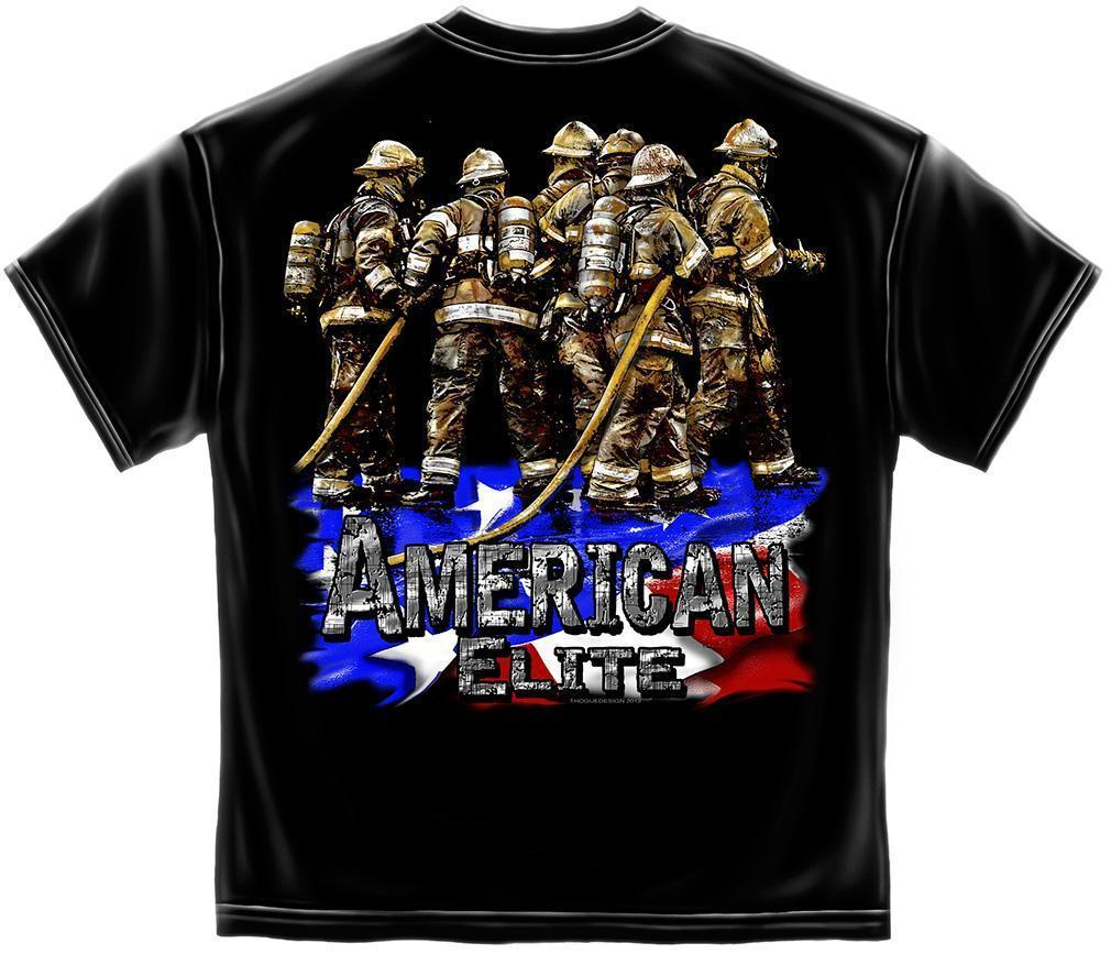 Erazor Bits T-Shirt - Elite Breed - American Elite Fire Fighter - Black