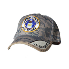 US Honor Embroidered Digital Pixel Camo Air Force Round Logo Baseball Caps Hats