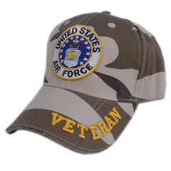 US Honor Official Embroidered Veteran Camo Air Force Baseball Caps Hats