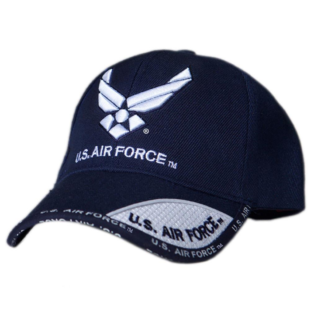 US Honor Official Embroidered Shadow Air Force Wing Logo Baseball Caps Hats