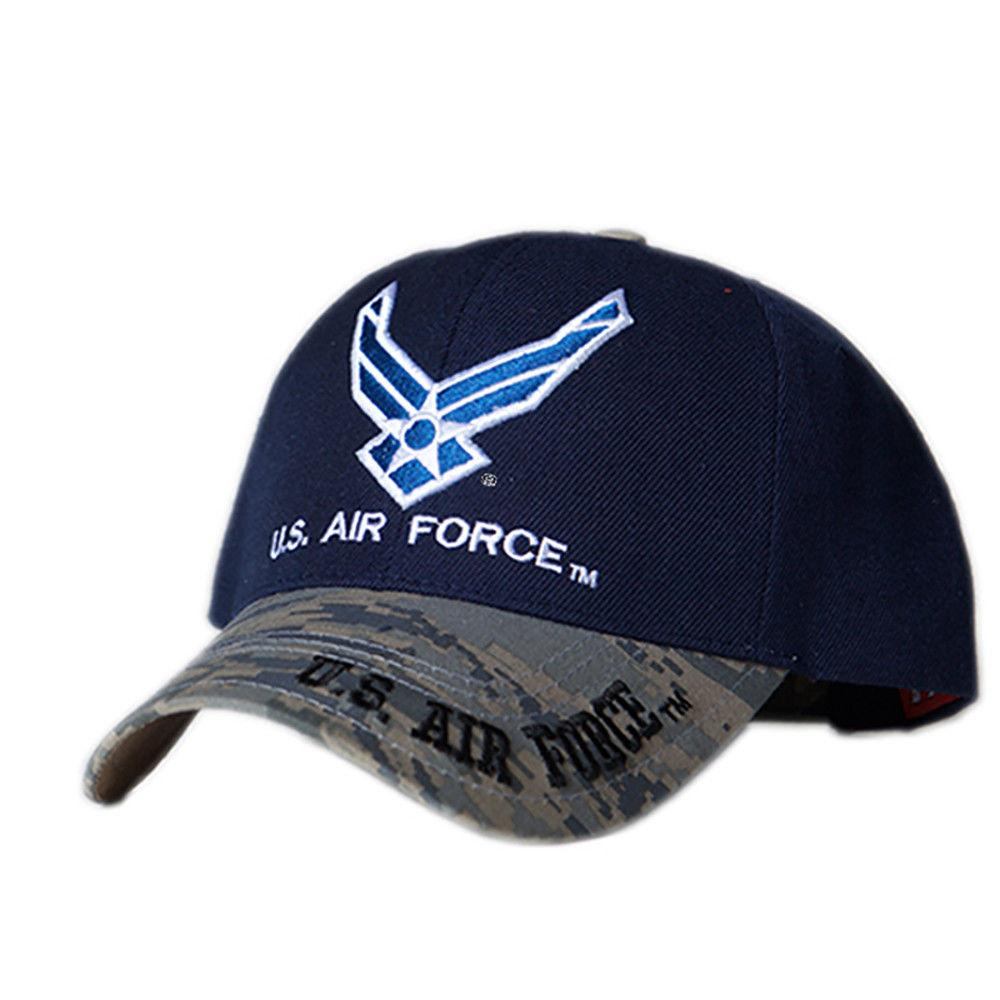 US Honor Embroidered Valiant Camo Air Force Logo Baseball Caps Hats