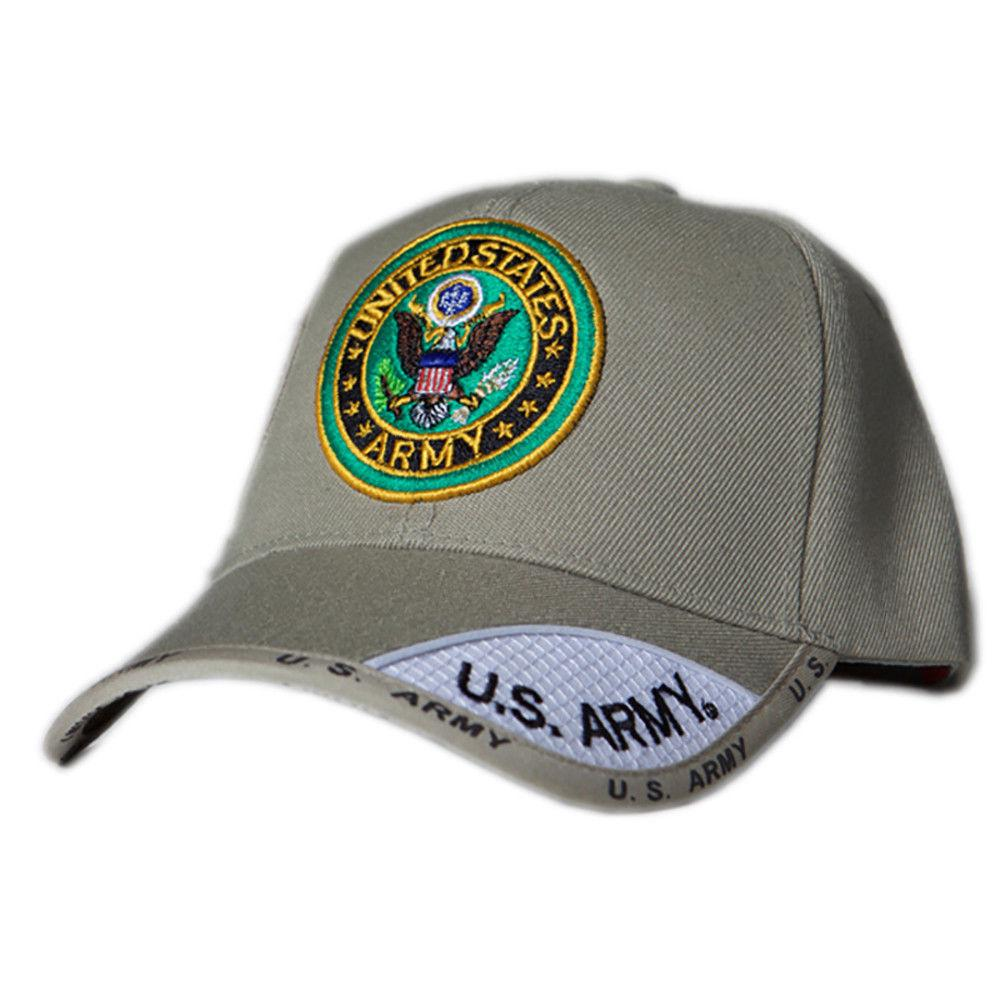US Honor Official Embroidered Shadow Army Round Logo Khaki Baseball Caps Hats