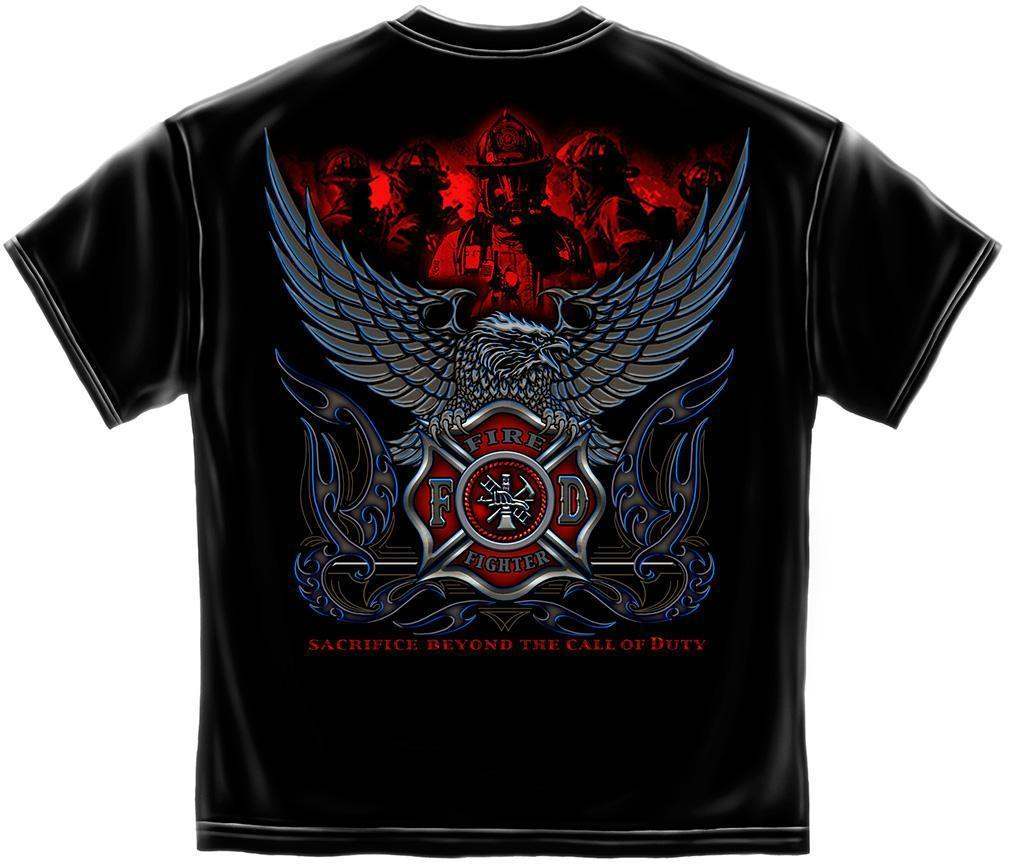Erazor Bits T-Shirt - Elite Breed - Fire Fighter Sacrifice Beyond The Call Of Du