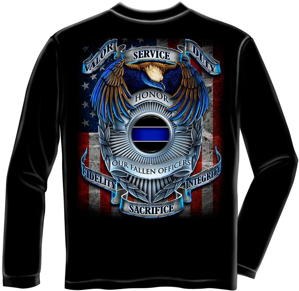 Erazor Bits Long Sleeve T-Shirt - Law Enforcement - Honor Our Fallen Officers -