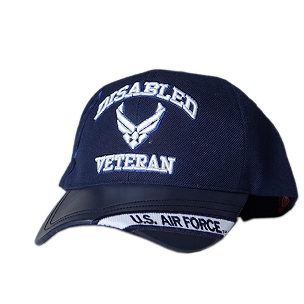 US Honor Embroidered Official Veteran Disabled Air Force Wing Baseball Caps Hats