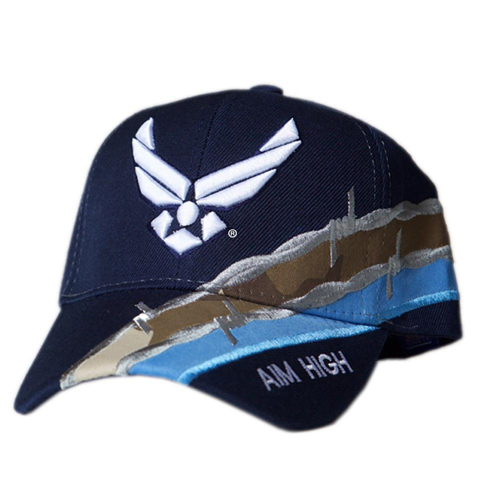 US Honor Official Embroidered Barbed Wire Air Force Wing Logo Baseball Caps Hats