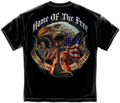 Erazor Bits T-Shirt - Home of the Free Because of the Brave - Black