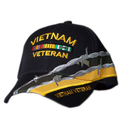 US Honor Embroidered Barbed Wire Vietnam Veteran Bar Baseball Caps Hats