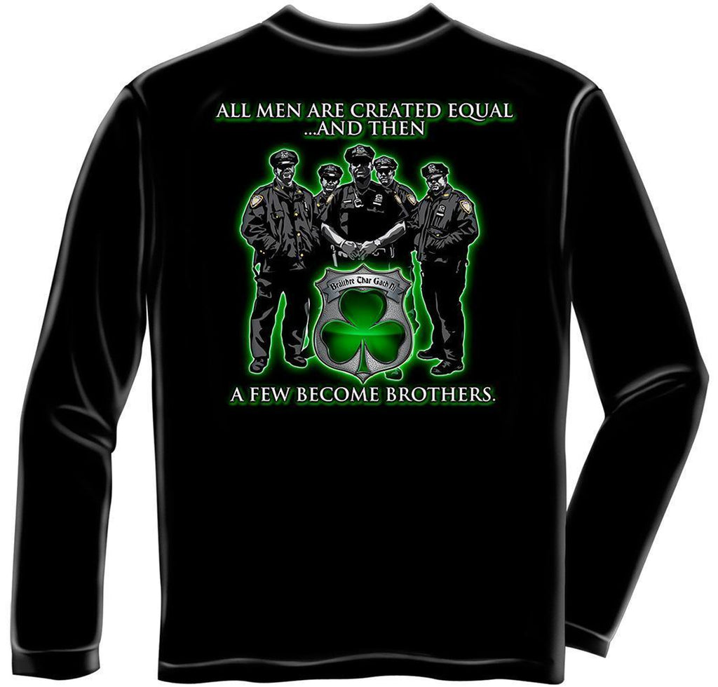 Erazor Bits Long Sleeve T-Shirt - Law Enforcement -Policeman's Irish Brotherhood