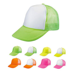 1 Dozen Blank Neon Foam Mesh Trucker Hats Caps Solid Two Tone Wholesale Bulk