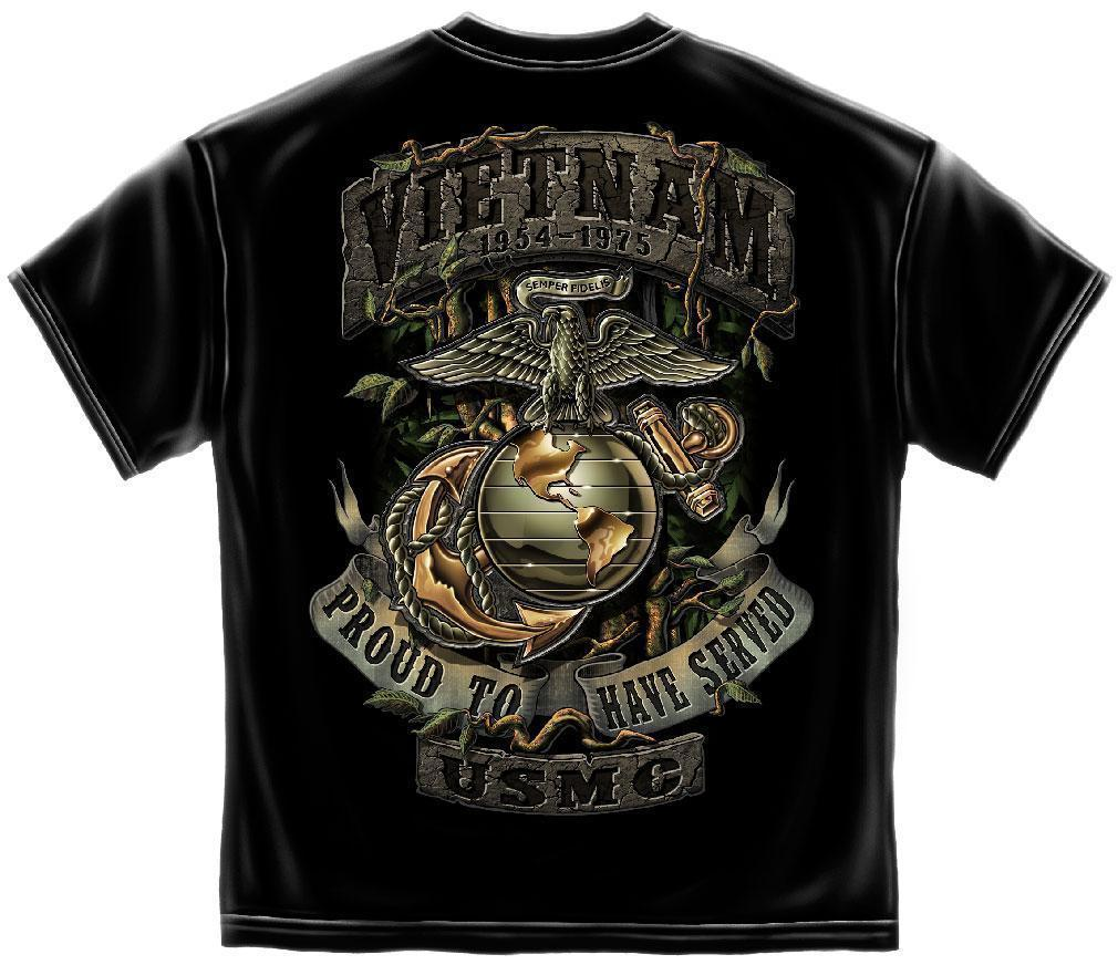 Erazor Bits T-Shirt - United States Marine Corps - USMC - Proud to have Served -