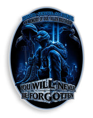 Decal Sticker You Will Never Be Forgotten Car Truck SUV Pick Up Window Bumper