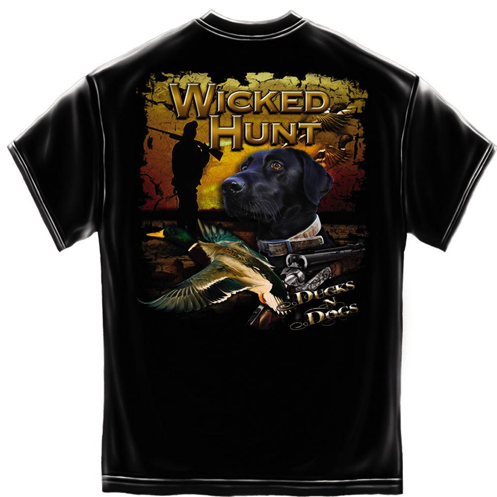 Erazor Bits T-Shirt - Wicked Hunt - Ducks N Dogs - Black