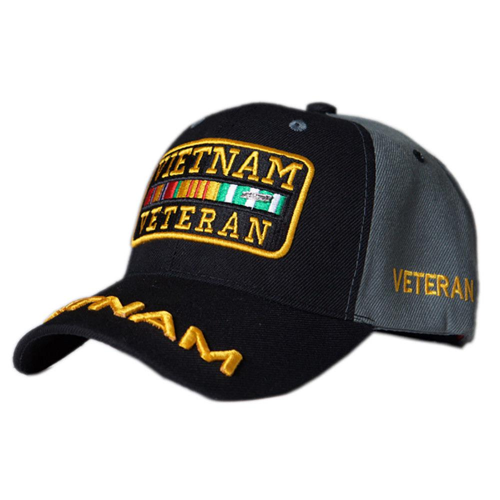 US Honor Embroidered Soldier Vietnam Veteran Bar Baseball Caps Hats