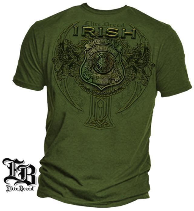 Erazor Bits T-Shirt - Elite Breed - American Police Irish Fir Na Dli - Military