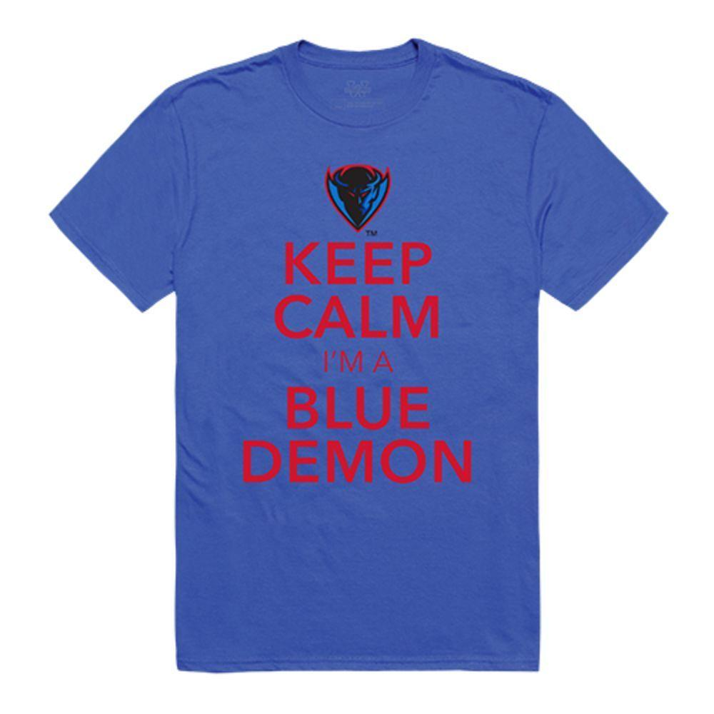 DePaul University Blue Demons NCAA Keep Calm Tee T-Shirt Royal