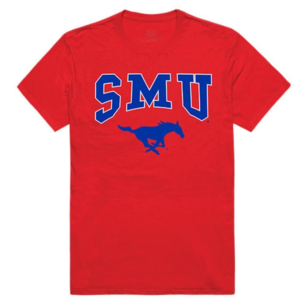 Southern Methodist University Mustangs NCAA Athletic Tee T-Shirt Red