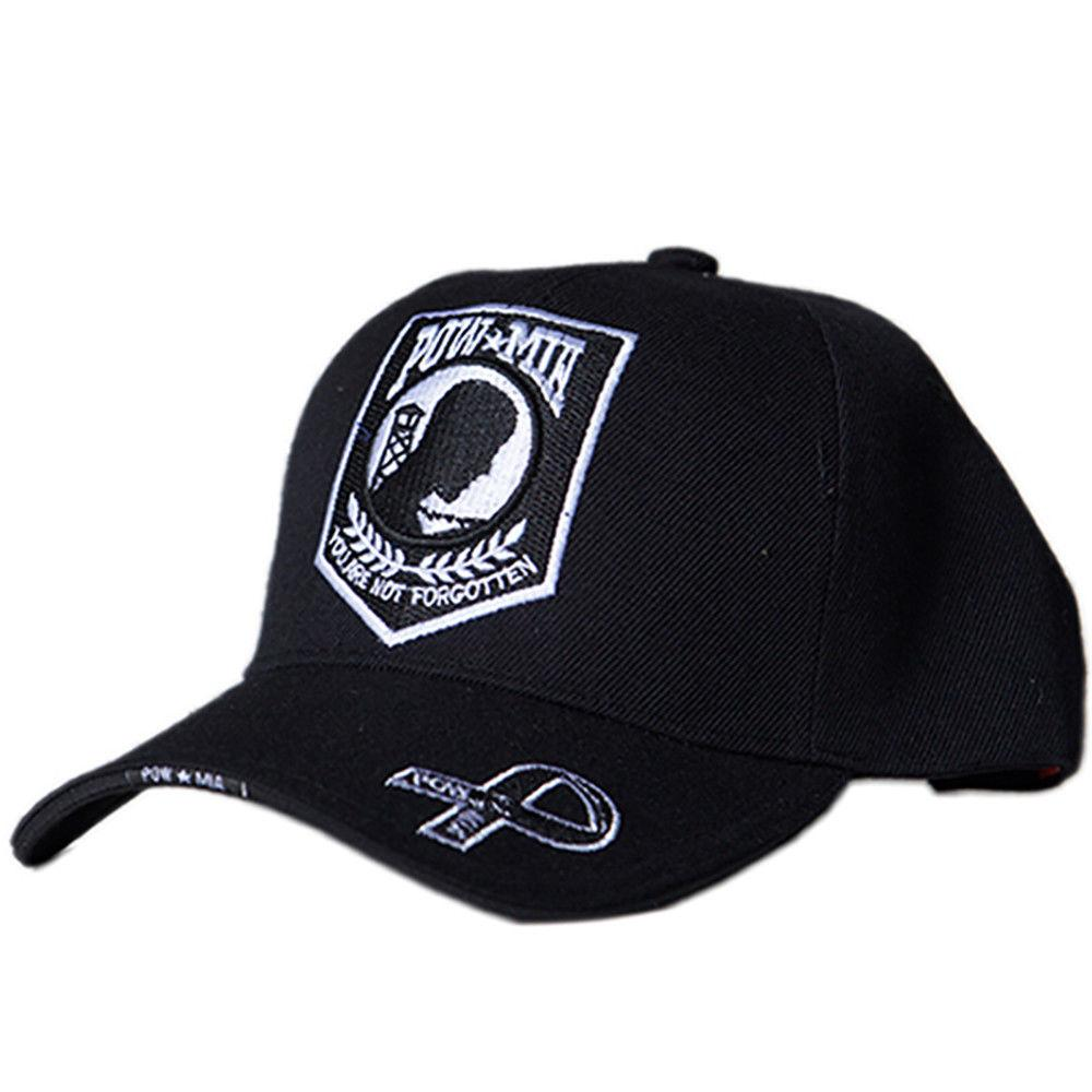 US Honor Embroidered Valiant POW/MIA Baseball Caps Hats