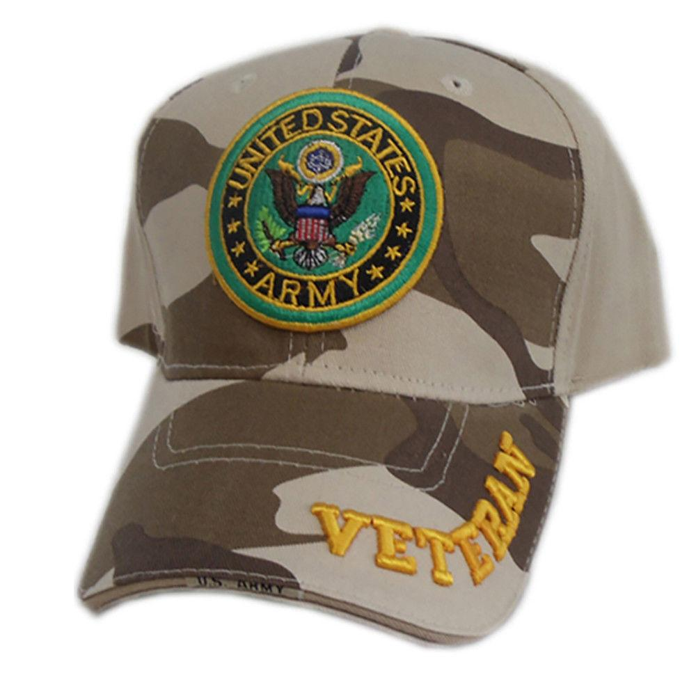 US Honor Official Embroidered Veteran Camo Army Baseball Caps Hats