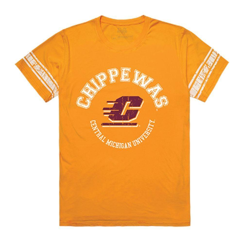 CMU Central Michigan University Chippewas NCAA Men's Football Tee T-Shirt Gold