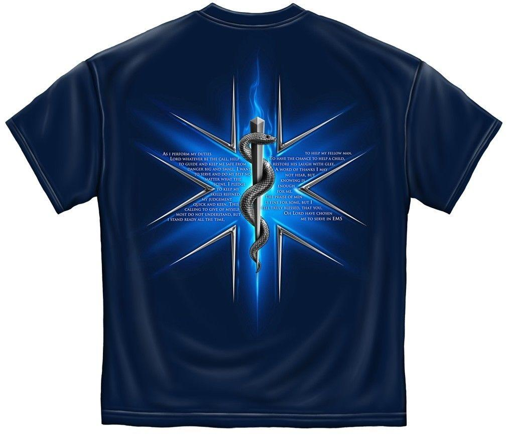 Erazor Bits T-Shirt - Emergency Medical Service  - EMS Prayer - Navy