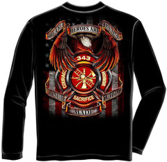 Erazor Bits Long Sleeve T-Shirt - Fire Fighter - FireFighter Heroes - All Gave S