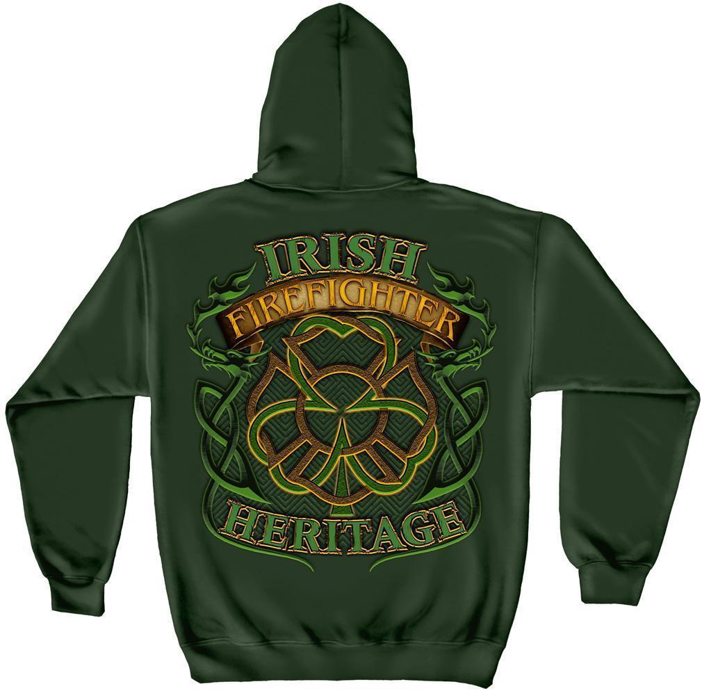 Erazor Bits Sweatshirt Hoodie- FireFighter - Fire Fighter Irish Heritage - Fores