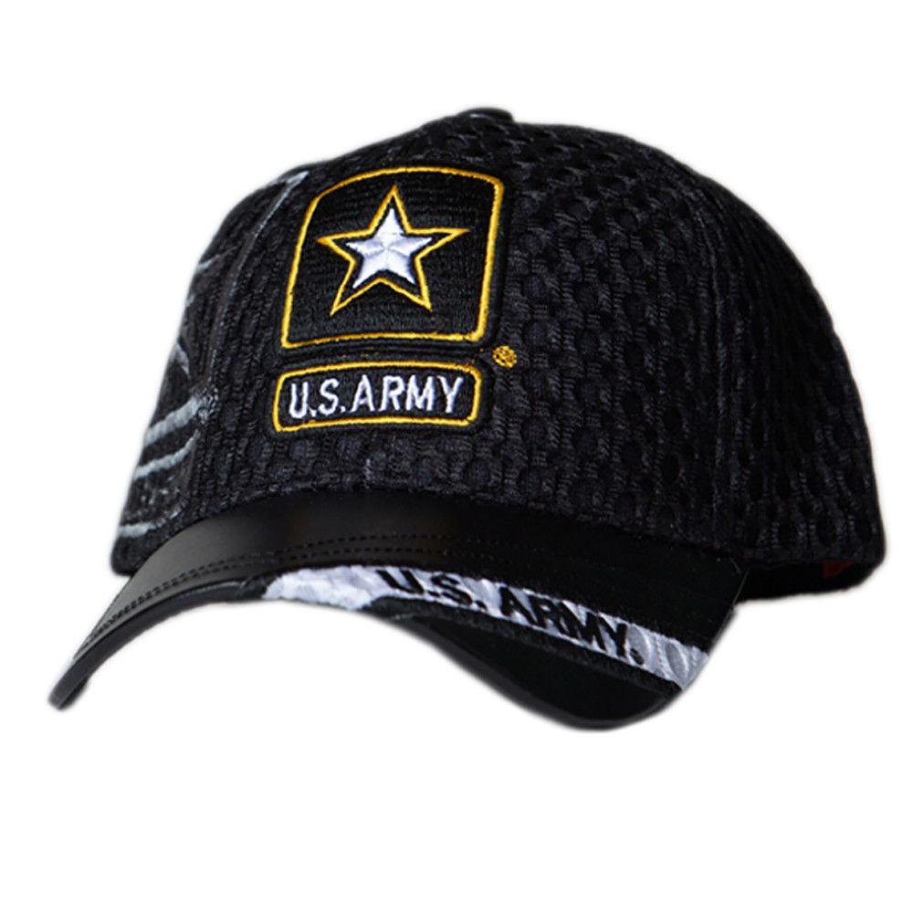 6c9772f27117e US Honor Official Embroidered Air Flow Army Star Logo Baseball Caps Hats
