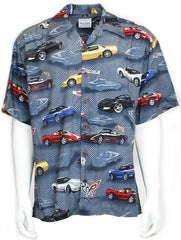 David Carey Classic Corvette Owners C5 Camp Shirts Vintage Retro Club Work