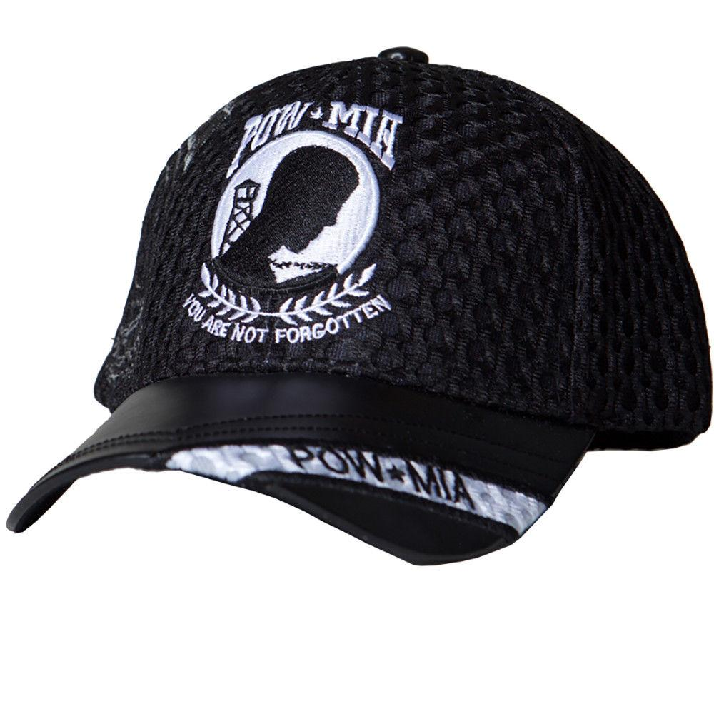 US Honor Embroidered Air Flow POW/MIA Logo Baseball Caps Hats