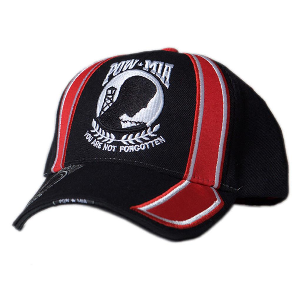 US Honor Embroidered Racing POW/MIA Logo Baseball Caps Hats