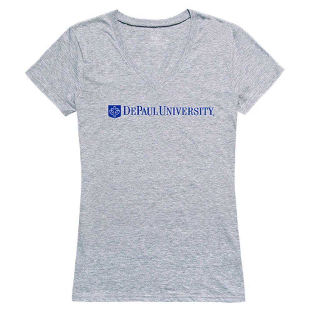 DePaul University Blue Demons NCAA Women's Seal Tee T-Shirt