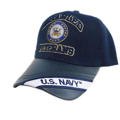 US Honor Embroidered Official Veteran Disabled Navy Baseball Caps Hats