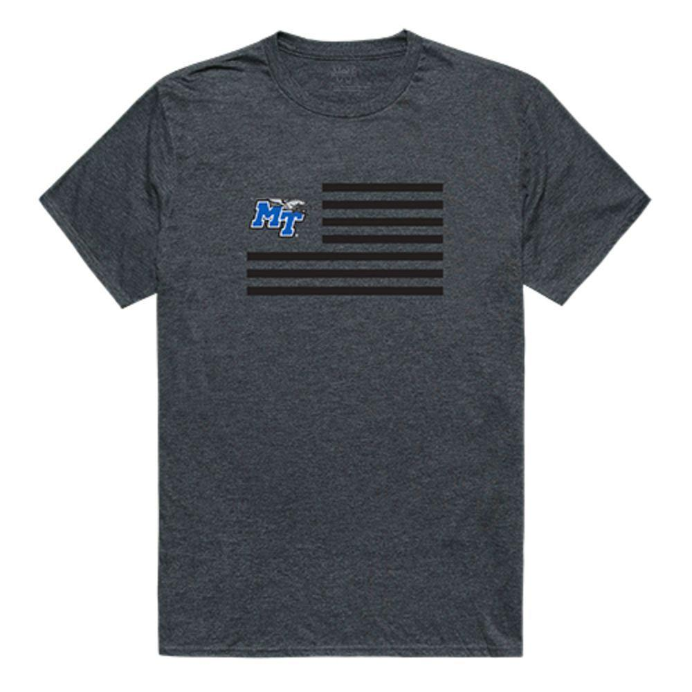 Middle Tennessee State University Blue Raiders NCAA Flag Tee T-Shirt