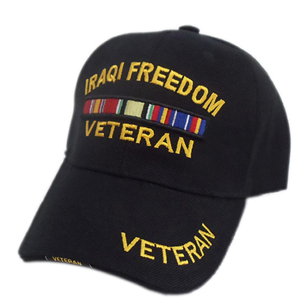 US Honor 3D Embroidered Veteran Iraqi Freedom Baseball Caps Hats