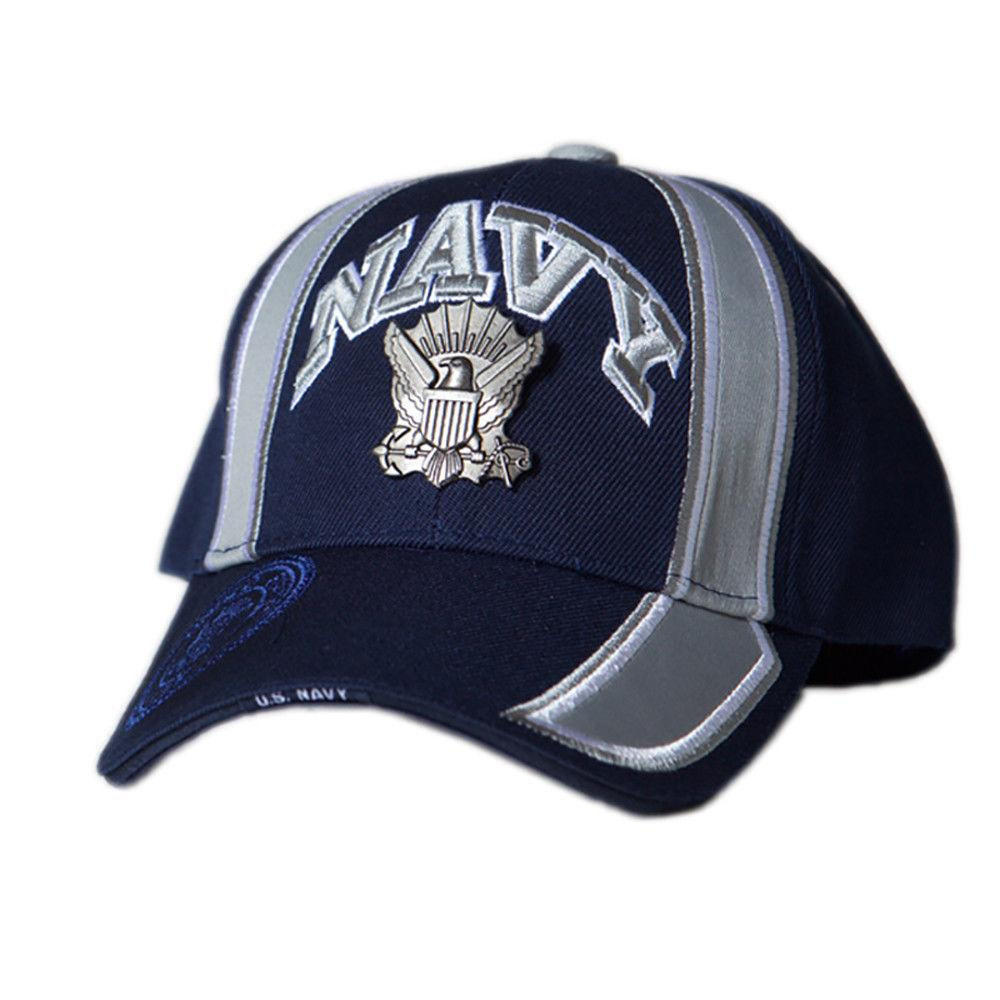 US Honor Official Embroidered Racing Navy Metal Logo Baseball Caps Hats