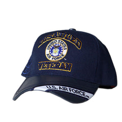 US Honor Embroidered Official Veteran Disabled Air Force Round Baseball Caps Hat