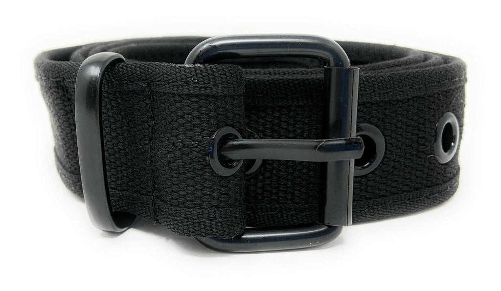 Casaba Canvas Belts Stylish 1 Hole Grommet Fabric Military Mens Women Unisex