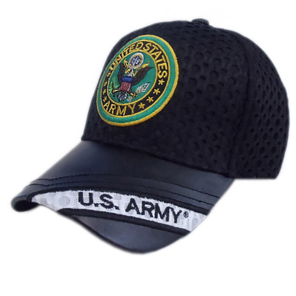 US Honor Official Embroidered Air Flow Army Round Logo Baseball Caps Hats