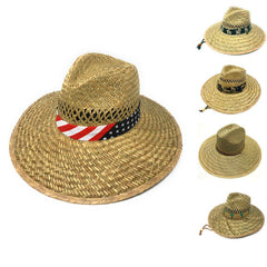 Stylish Straw Hats Caps Lifeguard Sombrero Postal Sun Beach Wide Brim Unisex