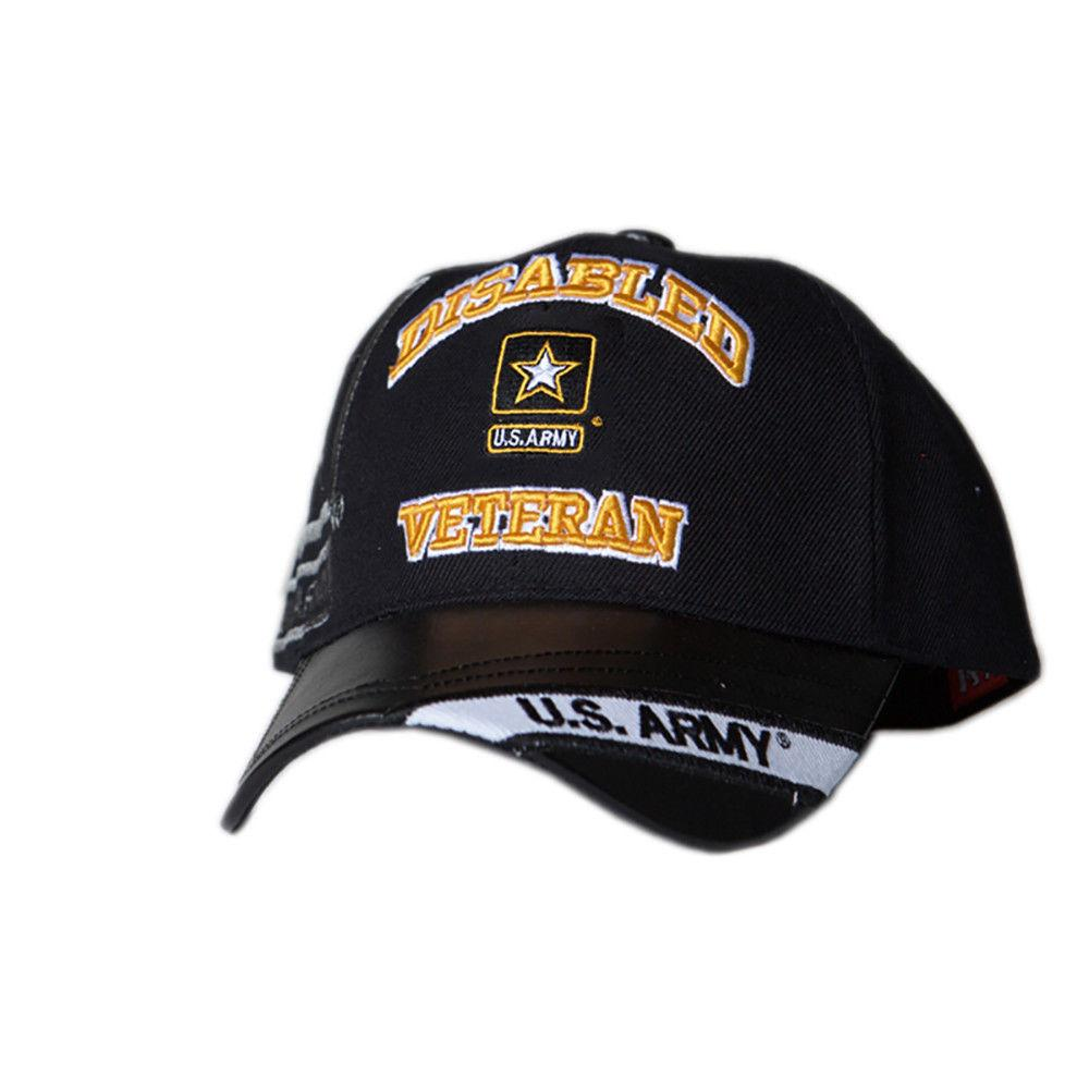 42e0a067970 US Honor Embroidered Official Veteran Disabled Army Star Baseball Caps Hats