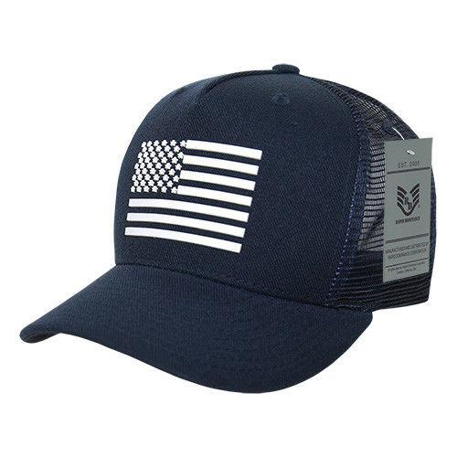 Rapid Dominance USA American Rubber Flag Acrylic 5 Panel Trucker Dad Caps Hats