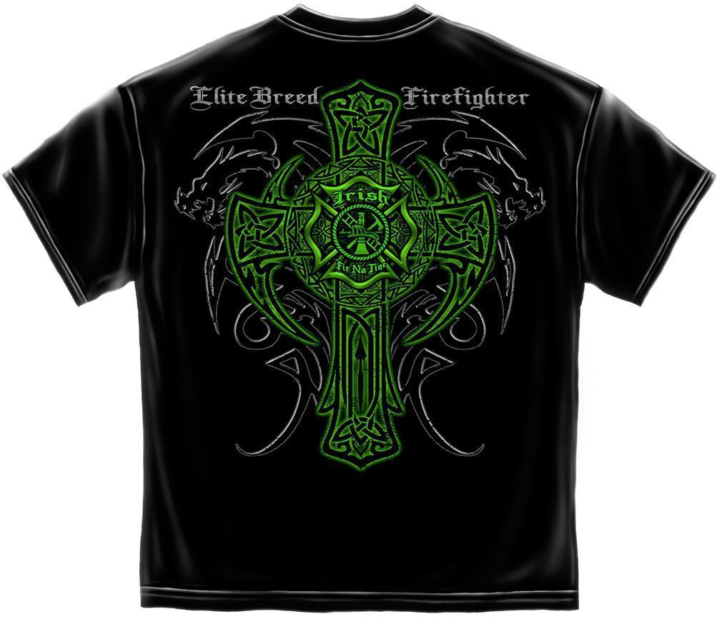 Erazor Bits T-Shirt - Elite Breed - Irish Fire Fighter Dragon - Black