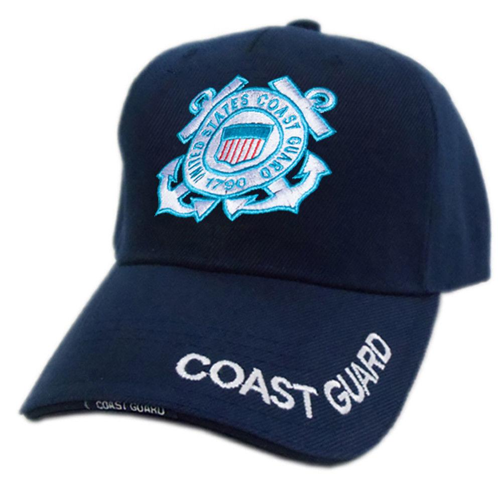 US Honor Official HD Coast Guard Logo Embroidered Baseball Caps Hats