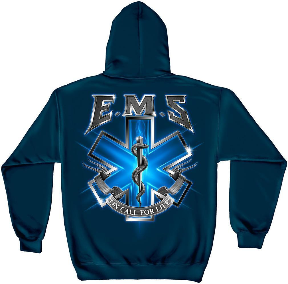 Erazor Bits Sweatshirt Hoodie- Emergency Medical Service - EMS On Call For Life