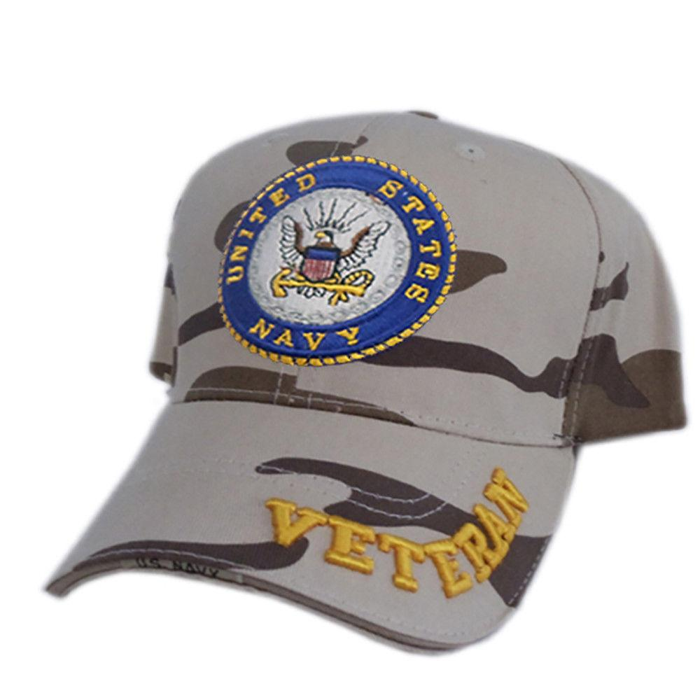 US Honor Official Embroidered Veteran Camo Navy Baseball Caps Hats